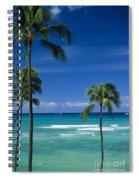 Waikiki Seascape Spiral Notebook