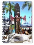 Waikiki Statue - Duke Kahanamoku Spiral Notebook
