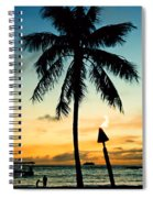 Waikiki Sunset Spiral Notebook