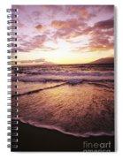 Wailea Beach At Sunset Spiral Notebook
