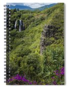 Wailua Falls And Tropical Plants Spiral Notebook