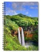 Wailua Falls Kauai Spiral Notebook