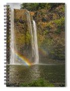 Wailua Falls Rainbow Spiral Notebook