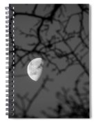 Waning Black And White Spiral Notebook