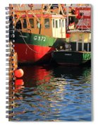 Waiting At The Dock Spiral Notebook