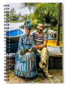 Waiting By The Boats Spiral Notebook
