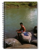 Waiting For A Fish Spiral Notebook