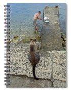 Waiting For A Meal Spiral Notebook