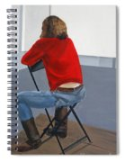 Waiting For Inspiration Spiral Notebook