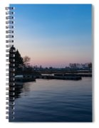 Waiting For Sunrise - Blue Hour At The Lighthouse Infused With Soft Pink Spiral Notebook