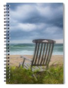 Waiting For Sunrise On The Dunes Spiral Notebook