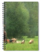 Waiting For The Hunt Spiral Notebook