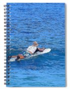 Waiting For The Perfect Wave Spiral Notebook