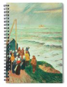 Waiting For The Return Of The Fishermen In Brittany Spiral Notebook