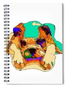 Waiting For You. Dog Series Spiral Notebook