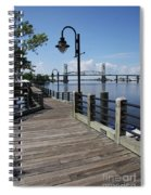 Walk Along The Fear River - Wilmington Spiral Notebook