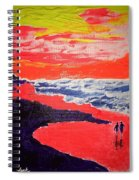 Walk On The Beach Spiral Notebook