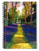 Walk Through Blue Spiral Notebook
