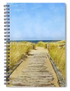 Walk To The Beach Spiral Notebook