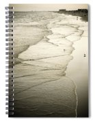 Walking Along The Beach At Sunrise Spiral Notebook
