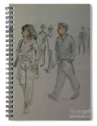 Walking Along The Strand Spiral Notebook