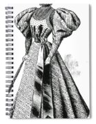 Walking Dress, 1890s Spiral Notebook