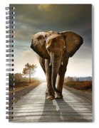 Walking Elephant Spiral Notebook