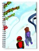 Walking Home From School Spiral Notebook