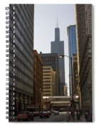 Walking In Chicago Spiral Notebook