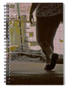 Walking In Construction Zone Spiral Notebook