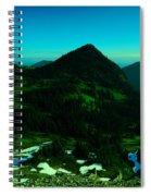 Walking In The Cascades Spiral Notebook
