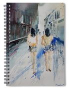 Walking In The Street Spiral Notebook