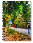Walking On A Beautiful Path Spiral Notebook