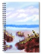 Walking On The Beach On A Rainy Day Spiral Notebook