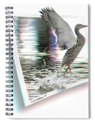 Walking On Water - Use Red-cyan 3d Glasses Spiral Notebook
