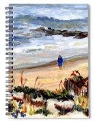 Walking The Beach On Long Beach Island Spiral Notebook