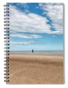 Walking The Dog On The Beach Spiral Notebook