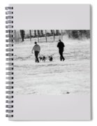 Walking The Dogs Spiral Notebook