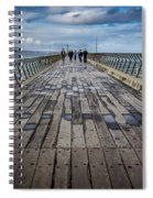 Walking The Pier Spiral Notebook