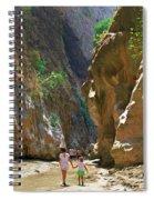 Walking Through The Gorge Of Saklikent Spiral Notebook