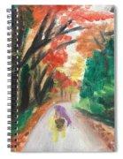 Walking Through The Woods Spiral Notebook