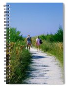 Walking To The Beach Spiral Notebook
