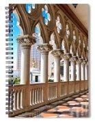 Walkway At The Venetian Hotel Spiral Notebook