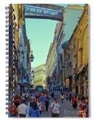 Walkway Over The Street - Lisbon Spiral Notebook