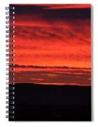 Wall Of Fire Spiral Notebook