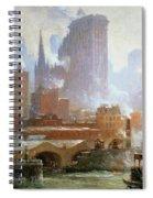 Wall Street Ferry Ship Spiral Notebook