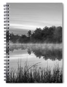 Wallis Sands Marsh Smoke On The Water Rye Nh Black And White Spiral Notebook
