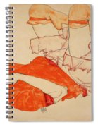 Wally In Red Blouse With Raised Knees Spiral Notebook