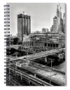 Walnut Street City View In Black And White Spiral Notebook