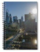 Walnut Street Sunrise From University City Spiral Notebook